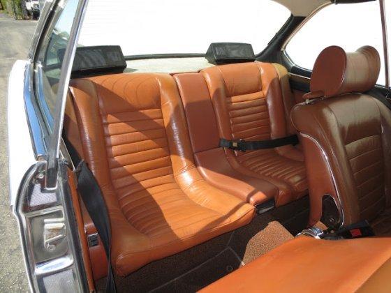 white CSa back seat