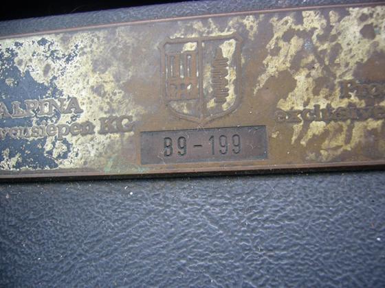 black B9 dash plaque