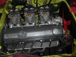 engine with triple Weber carbs