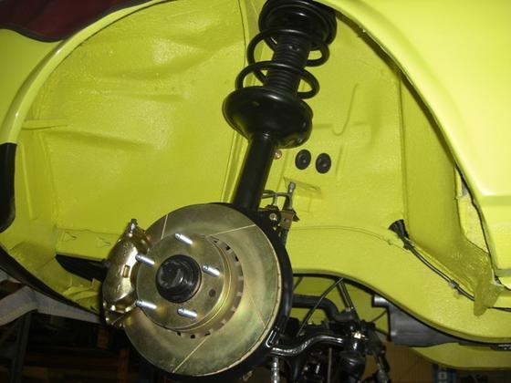 special Alpina spring, strut insert, caliper & rotor