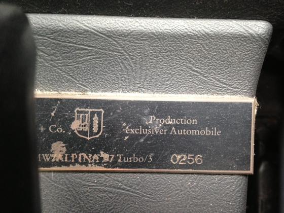 Hs B7 Turbo3 dash plaque