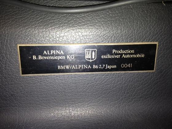 B62.7 dash plaque