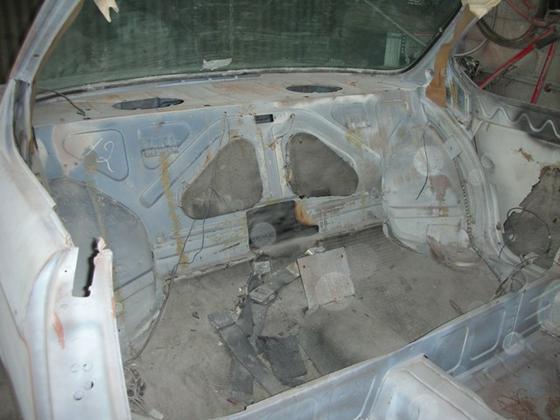 black CS back seat floor
